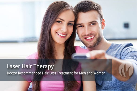 Laser hair therapy treatment for hair loss. Minneapolis St Paul MN