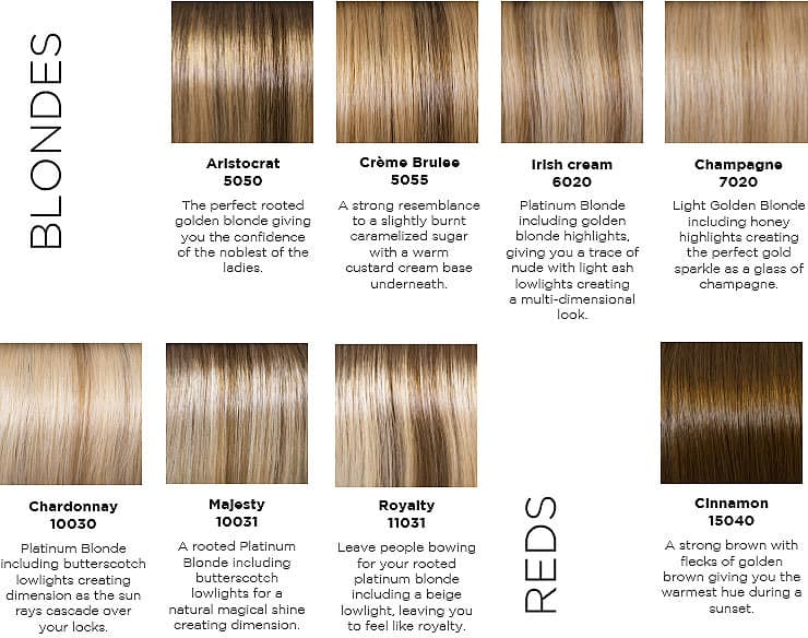 Follea Color chart blond
